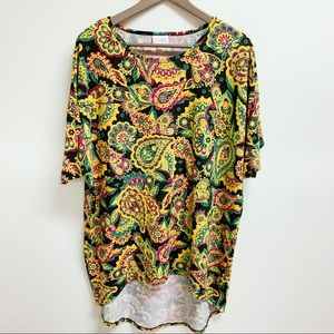 LuLaRoe Tropical Floral High Low Tunic Top